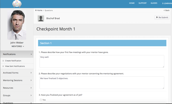 Checkpoint form