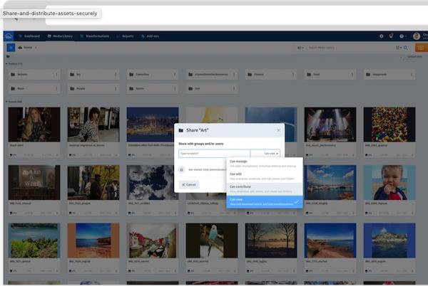 Cloudinary Access Management