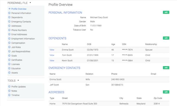Employee Navigator Employee Profile