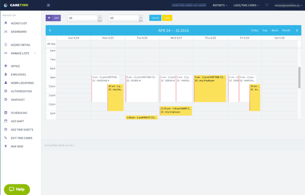 CareTime Schedule Manager
