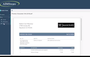 AIMSware preview of PDF invoice