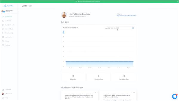 ManyChat dashboard screenshot