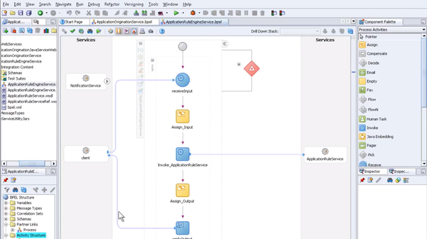 LLaaS workflow editor