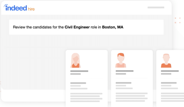 Indeed Hire review candidates