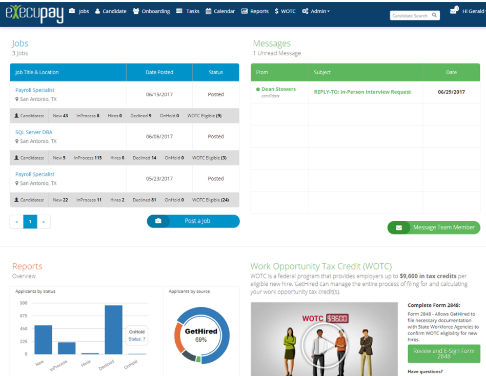 Execupay - Execupay applicant tracking