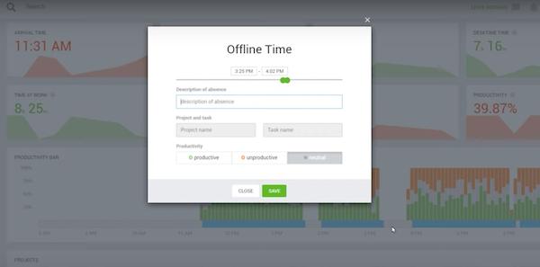Desktime manage offline time