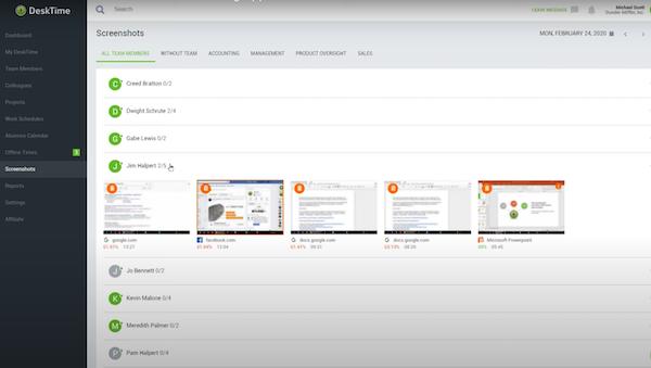 Desktime automated screenshots