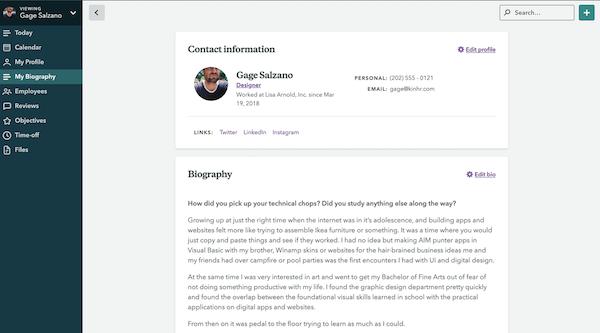 Kin Employee Profiles