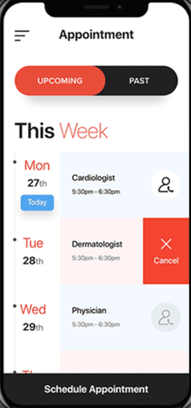 ClinicLive patient mobile app - schedule appointments