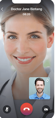 ClinicLive patient mobile app - video chat