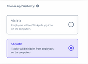 Workpuls app visibility