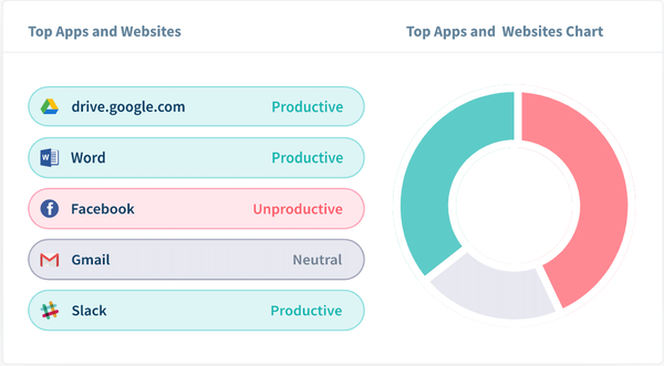 Workpuls app and website usage