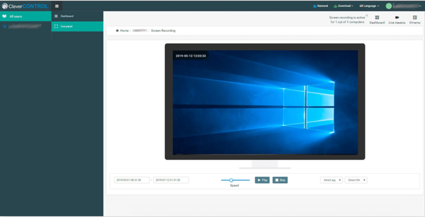CleverControl screen recording