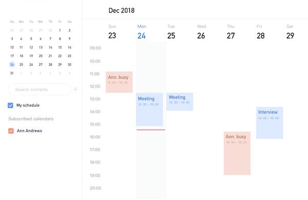 Lark Calendar