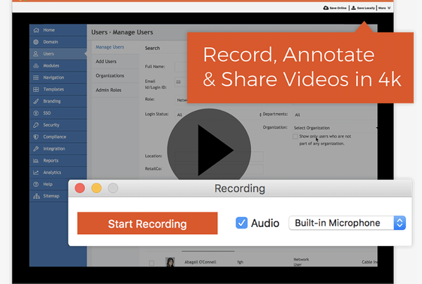 TinyTake record videos
