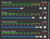 OBS Studio audio mixer