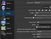 OBS Studio settings panel
