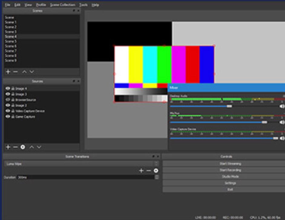 OBS Studioモジュラー「ドック」UI
