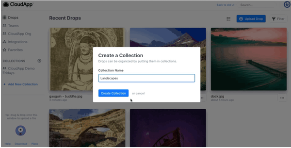 CloudApp create collections