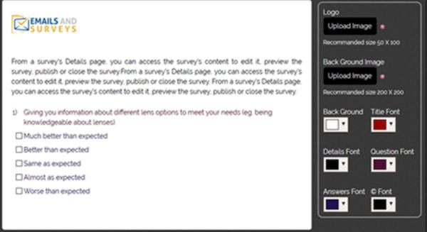 EmailsAndSurveys online questions