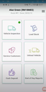 RouteMagic - mobile app home screen