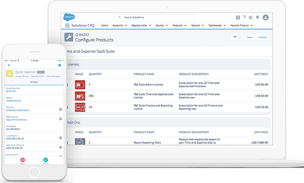 Salesforce CPQ - configure products and create quotes