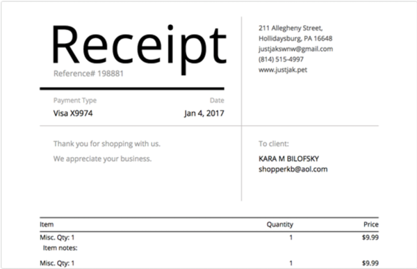SmartSwipe digital and printed receipts