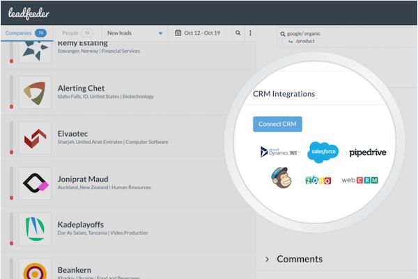 Leadfeeder - CRM integration