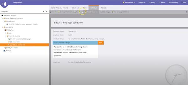 eCHO smart campaign settings