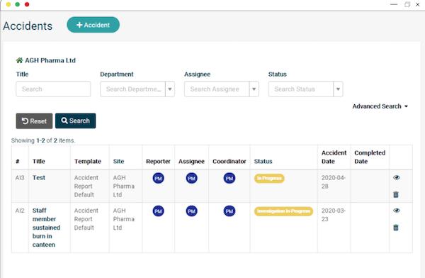 EcoOnline Platform - accident reporting