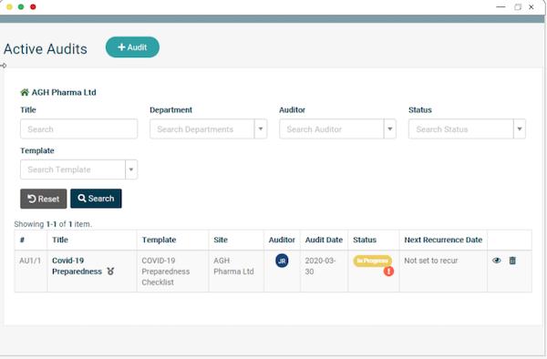 EcoOnline Platform - audits