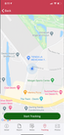 CROSStrax mobile app - GPS tracking