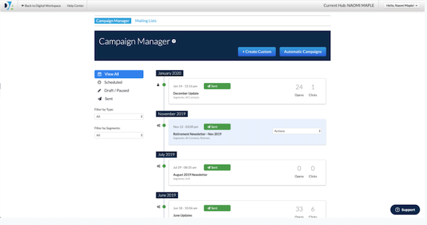 Digital Agent campaign manager