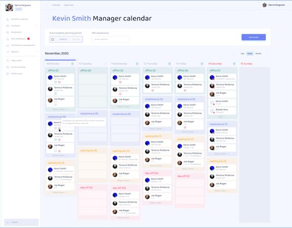 stayhome.ai - manager calendar