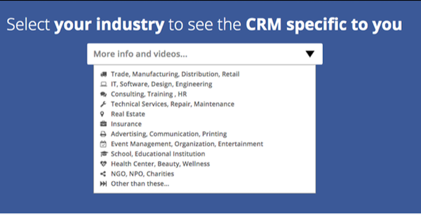 MyBasicCRM industry specific