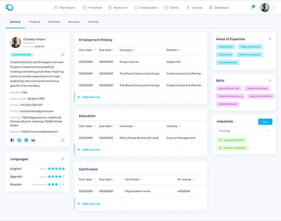 TransparentBusiness - talent profile