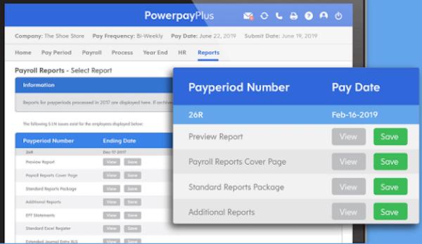 Powerpay - payroll reports