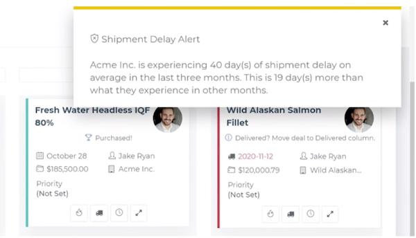 CreamSoda shipment delay alerts