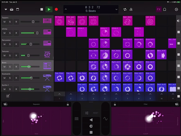 Logic Pro Mobile Step Sequencing