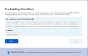 FeverIQ pre-existing condition question
