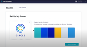 Piktochart custom color schemes