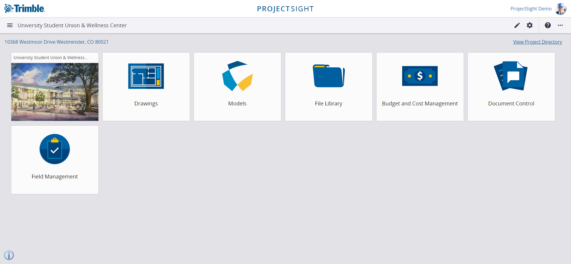 Project specific dashboard