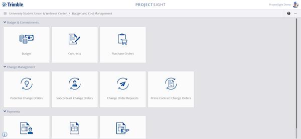 Budget & cost management module