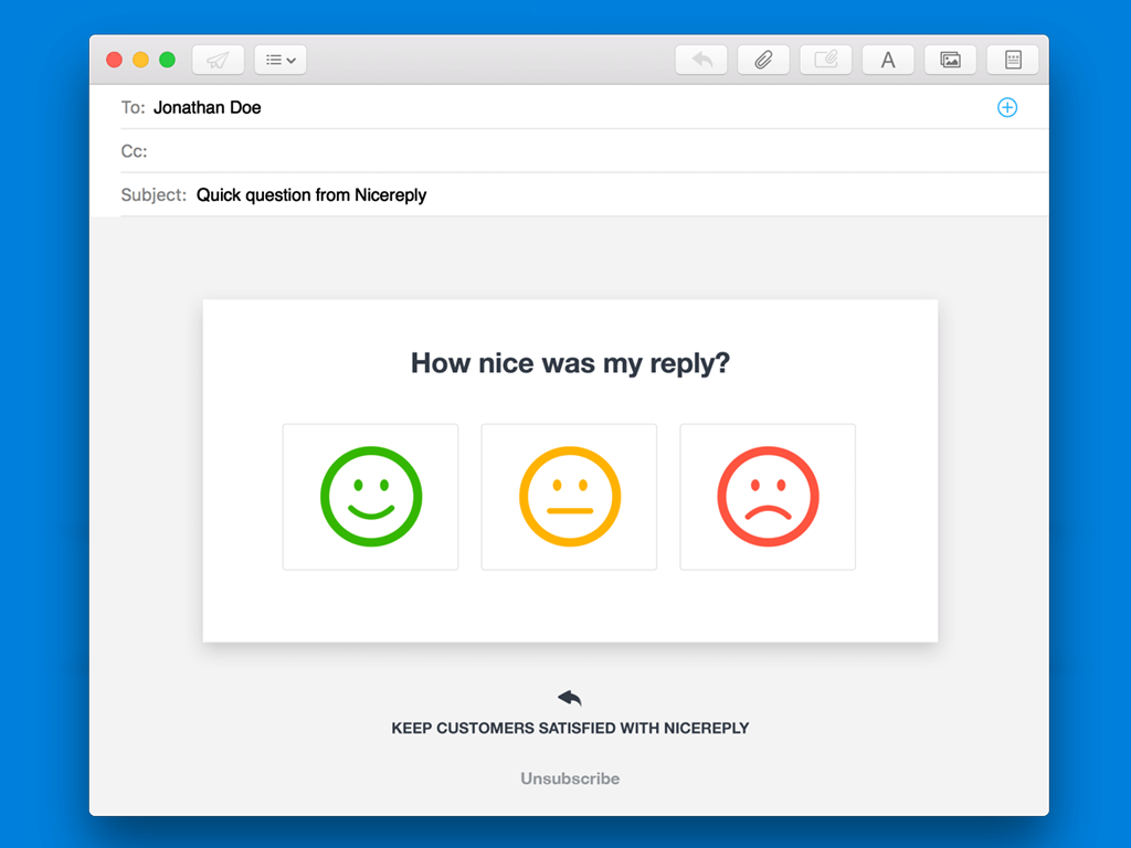 Email signature survey