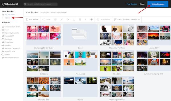 Photobucket photo library