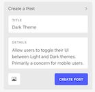 Canny create a post
