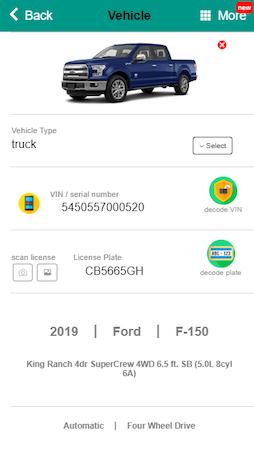 ARI vehicle detail
