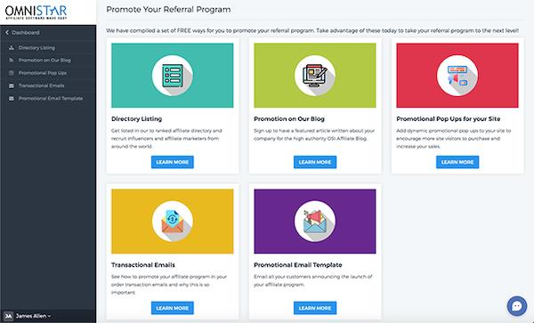Omnistar Affiliate referral program promotion screenshot