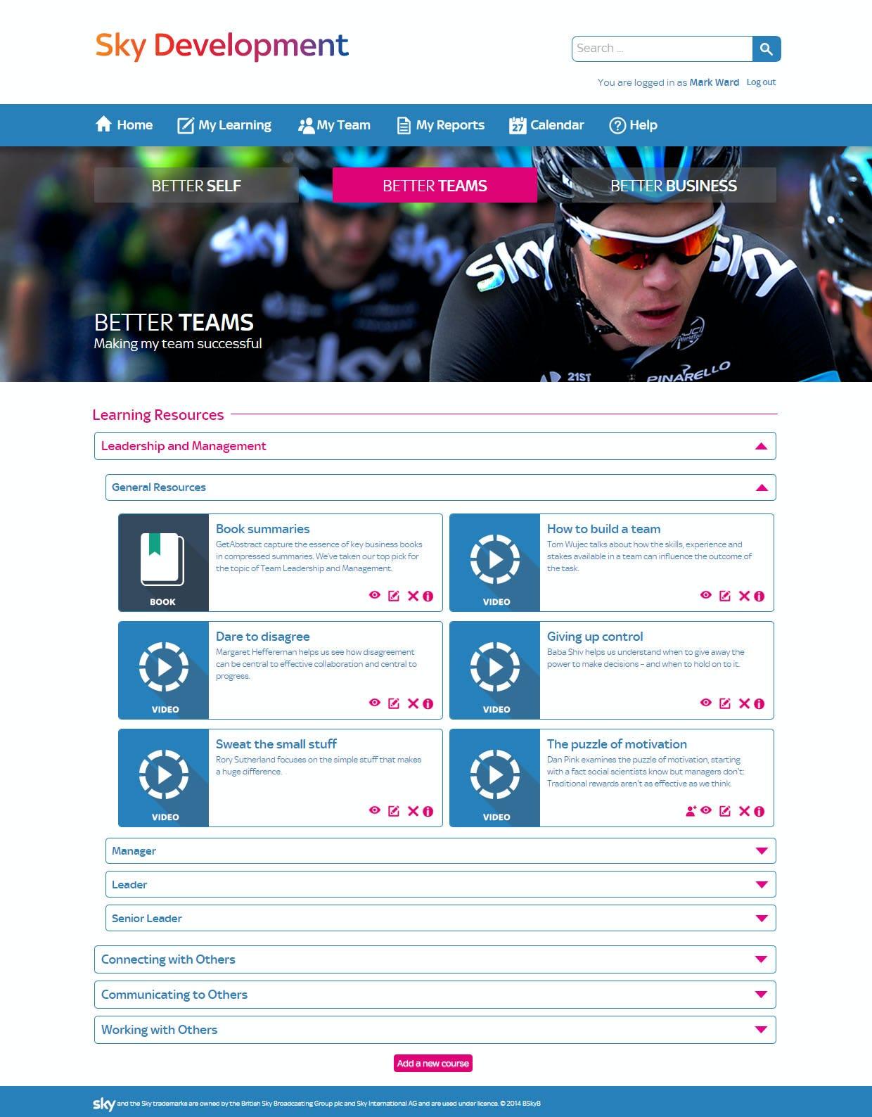 Totara - Team learning resources