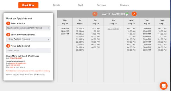 Customer booking portal